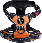 Frenkiez reflective no pull dog harness orange Large