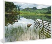 Foto in lijst - Nationaal park Lake District heeft veel verschillende wateren fotolijst wit 60x40 cm - Poster in lijst (Wanddecoratie woonkamer / slaapkamer)