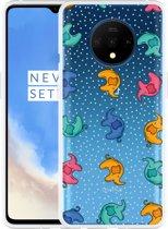 OnePlus 7T Hoesje Happy Elephant