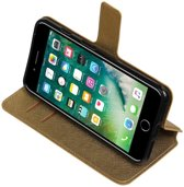 Goud Apple iPhone 7 Plus TPU wallet case booktype hoesje HM Book