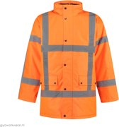 EM Traffic Parka High Visibility RWS Fluor Oranje - maat M