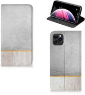 iPhone 11 Pro Max Book Wallet Case Wood Concrete