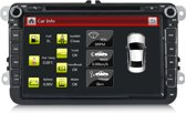 Volkswagen rns 510 pasvorm Navigatiesysteem met Bluetooth Autoradio USB –  Golf 4 5 6 Touran Caddy Passat – 8 Inch – Met Camera & USB