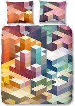 Good Morning 5908-P Cubes - dekbedovertrek - lits jumeaux - 240x200/220 cm  - 100% katoen - multi
