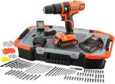 black+decker egbl188bast accu klopboor/schroefmachine + accessoireset (150st)