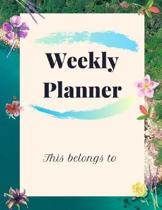 Weekly Planner Academic Year 2019-2020