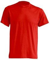 JHK t-shirts kleur rood maat XXL - Set van 5 stuks