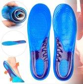 Comfort Gel Inlegzolen - Gelzolen Inlegzooltjes - Maat 42/43/44/45/46/47/48 Gelzooltjes Zolen - Sport Schoenen Zooltjes - Blauw