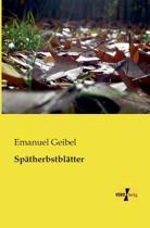Spatherbstblatter