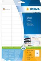 HERMA Etiketten A4 wit 52,5x21,2 mm Papier mat 1400 St.