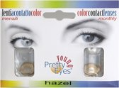 Pretty eyes daglens hazel 2 st