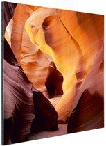 Antelope Canyon in Utah Aluminium 80x120 cm - Foto print op Aluminium (metaal wanddecoratie)