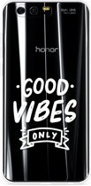 Honor 9 Hoesje Good Vibes wit