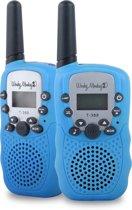 Wonky Monkey WT-335BU Walkie Talkie  3km bereik 10 oproeptonen blauw