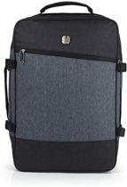Gabol Saga - Handbagage Laptop Rugzak - 17,3 inch - zwart / grijs
