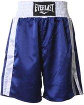 Everlast Pro Boxing Short  Sportbroek - Maat XL  - Unisex - blauw/ wit