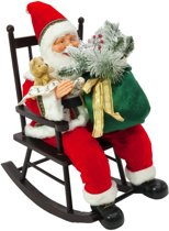 Europalms Kerstman met rocking chair, 80cm