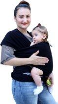 Baby Elfina Draagdoek - Biologisch Katoen - Elastisch - Zwart