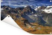 De weg naar de hoogste berg in Oostenrijk Tuinposter 90x60 cm - Tuindoek / Buitencanvas / Schilderijen voor buiten (tuin decoratie)