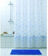 Textiel Douchegordijn Farfalla Vlinder Blauw 180x200cm