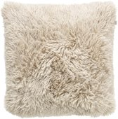 Dutch Decor Fluffy Sierkussen - 45x45 cm - Zand