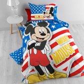 Disney Mickey Mouse Hollywood - Kinderdekbedovertrek - Eenpersoons - 140x200 + 1 kussensloop 60x70 - Multi