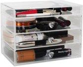 BO Make up organizer Clear Cube 4 lades - Transparant Acryl
