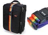 Kofferband Met Code Slot - Kofferriem Cijferslot - Bagage Riem Met Kofferslot - 200CM