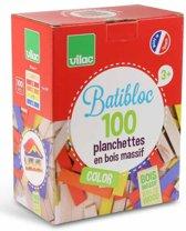 BATiBLOC-classic 100 natuurlijke kleurrijke houten plankjes