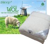 iSleep Wollen Onderdeken - 100% Wol - Twijfelaar - 120x200 cm - Ecru