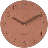 Wall clock Dura korean wood brown