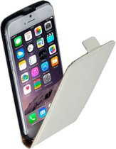 Wit lederen flip case voor Apple iPhone 7 PLUS hoesje