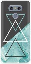 LG G6 Hoesje Turquoise Marble Art