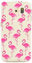 Samsung Galaxy S6 Edge - TPU Soft Case - Back Cover telefoonhoesje - Flamingo