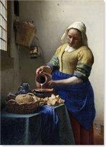 Het Melkmeisje - Johannes Vermeer - Schilderij op Canvas