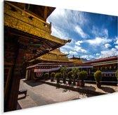 Binnenplaats van de Jokhang ook bekend als het Qoikang-klooster Plexiglas 40x30 cm - klein - Foto print op Glas (Plexiglas wanddecoratie)