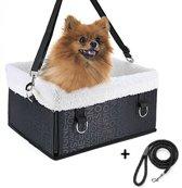 Automand Hond - Inclusief Hondenriem en autogordel -  Autostoel voor hondje - Reismand - Hondenmand - Reisbench - Zwart