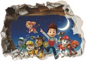 Paw patrol muursticker on the moon  50 x 70 cm - Vinyl
