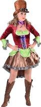 Steampunk Kostuum | Kleurig Manchester Steampunk | Vrouw | Large | Carnaval kostuum | Verkleedkleding