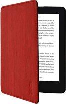 Kobo Aura H20 edition 2 slimfit cover / H2O Hoes rood met houtpatroon New 2017 Model