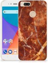 TPU Siliconen Hoesje Xiaomi Mi A1 Marmer Bruin