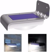 Quintezz solar LED wandamp met bewegingssensor   zonne-energie RVS