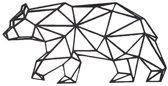 FBRK. Vos 75 x 71 cm  Wit - Geometrische dieren -Wanddecoratie