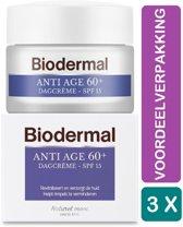 Biodermal Dagcrème Anti Age 60+ - 3 x 50 ml Voordeelverpakking