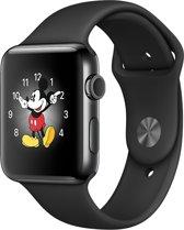 Apple Watch Series 2 Smartwatch 38mm - Spacezwart Roestvrij staal / Zwart sportband