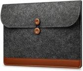 Vilten sleeve voor MacBook 13 inch - Laptop Hoes Case Bescherming - Donker grijs / Zwart model 3