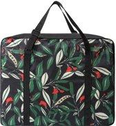 Opvouwbare Handbagage Tas Met Bloemenprint - Zwart