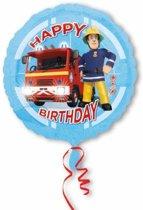 Fireman Sam Helium Ballon Happy Birthday - leeg