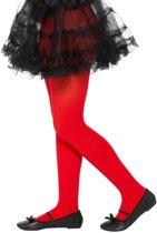 Rode legging voor kinderen 6-12 jaar