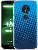Moto G7 Play Hoesje lichtblauwe cirkels